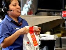 McDonald's helps workers get food stamps ~ This is just sad! How can full-time workers need public assistance? Anyone working a full-time job should make enough to survive on without public assistance. It's time for McDonalds and other fast food workers to channel their money into their workers instead of into their investors.