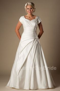 'Edenbridge' modest wedding gown, modest wedding, modest bride, modest ideas