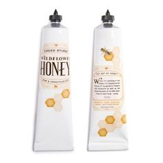 Tubular Confection Branding : Wildflower Honey Packaging