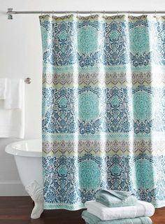 Perfect Better Homes And Gardens Layered Medallion Shower Curtain