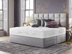 Relyon Wayford 2400 Pocket Sprung Divan Bed - , available to buy online or at Choice Furniture Superstore UK on stockist sale price. Get volume - discount with fast and Free Delivery. Honeycomb Pattern, Spring Nature, Beds Online, Fabric Covered, Body Shapes, About Uk, Things That Bounce, Mattress, Two By Two