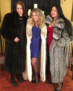 #furfetish #furcoats Black Fur Coat, Long Fur Coat, Fur Coats, Fur Fashion, Winter Fashion, Womens Fashion, Fabulous Furs, Maxi Coat, These Girls