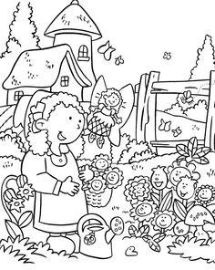 garden clipart Fittex bil Google Garden coloring pages Flower coloring pages Coloring pages
