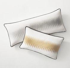 Metallic Jagged Edge Pillow Cover & Insert