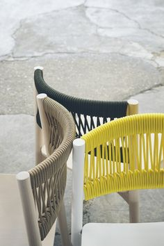 A detailed look at the Load Rope Chair designed by for - inspiration inredning - Chair Design Diy Furniture, Furniture Design, Outdoor Furniture, Street Furniture, Furniture Logo, Garden Furniture, Vintage Furniture, Contract Furniture, Modern Furniture