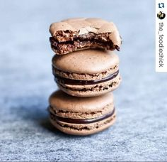 It is the sweet simple things of life which are the real ones after all!  Coffee and Chocolate Macaroons from Theobroma  @the_foodiechick  To get featured on our page tag us on your #FoodStory or DM/email us the photographs.  We'll love to share it with the world!  #LoveForFood #Macaroons #Coffee #Chocolate #SweetTooth #SweetLife #SweetEndings #SugarRush #LoveForChocolate #ChocolateLover #CoffeeAddict #TheDessertStory #TheFoodStory #EatSleepDrinkRepeat