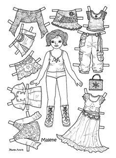 Påklædningsdukker. Paper Dolls.