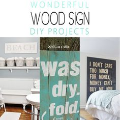Wonderful Wood Sign DIY Projects - The Cottage Market