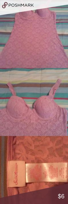 Lilac nightie Lace, underwrite bra, adjustable straps secret treasures Intimates & Sleepwear Chemises & Slips
