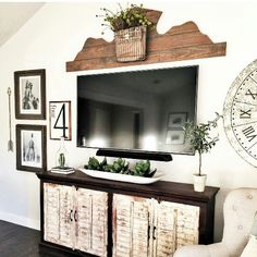 Tv Wall Decor Ideas decorating around the tv ideas. pic from @ourvintagenest | styling
