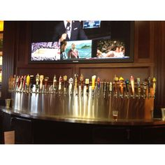 BJ's in Carlsbad, CA......huge selection of draft beers and split screen TV with sports!