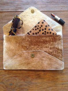 Cow Hide Envelope Clutch | Salt Water Collections