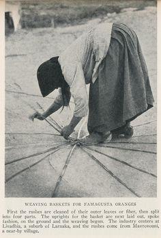 Weaving baskets for Famagusta oranges. Old Pictures, Old Photos, National Geographic Images, Old Greek, Paphos, Greek Islands, Cyprus, Vintage Photographs, Basket Weaving