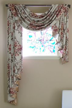Pole swags jabots Custom curtains Custom made window Swag Curtains, Curtains Living, Custom Curtains, Valance Curtains, Drapery, Valances, Window Swags, Valences For Windows, Window Coverings