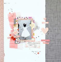 #papercrafting #scrapbook #layout - Little girl by OlgaBusova at @studio_calico