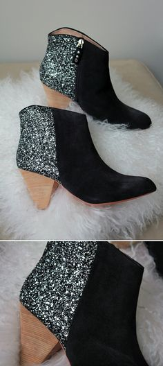 LE FASHION BLOG KETCH SHOP MATT BERNSON GLITTER PATCH BLOCK ANKLE BOOTS  SUEDE CHARCAOL WESTERN INSPIRED 83b4bb8c25fd