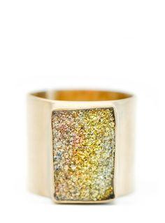 Rainbow Marcasite Ring // leif shop