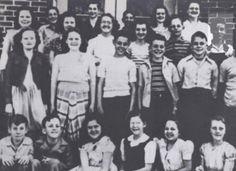 Milam Junior High School in Tupelo, Mississippi 1946 to 1948  Elvis Presley pictured top right corner