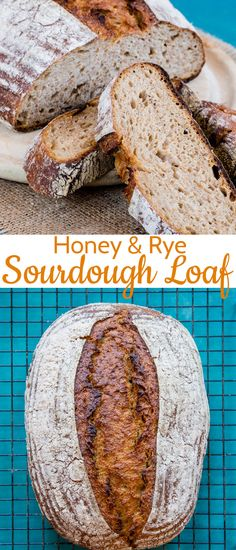 French Delicacies Essentials - Some Uncomplicated Strategies For Newbies Delicious Homemade Honey And Rye Sourdough Bread - With A Soft Crumb And Sweet Caramalised Crust Rye Bread Recipes, Artisan Bread Recipes, Sourdough Recipes, Baking Recipes, Rye Sourdough Starter, Sourdough Rye Bread, Yeast Bread, Strudel, All You Need Is