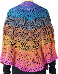 Ravelry: Butterfly in the Sunset Shawl pattern by Tanja Luescher