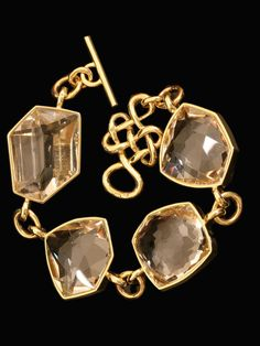 H.Stern 18KT Yellow Gold and Rock Crystal Bracelet from the Diane von Furstenberg Collection. $17,200.00