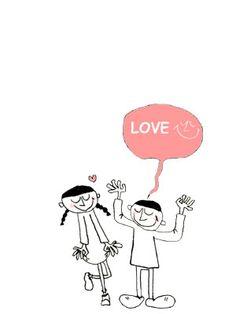 Illustration イラスト LOVE