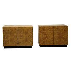 Vintage Burled Walnut Bedside Tables Mercantile » Scout Designs NYC