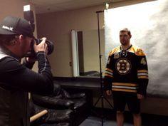 Boston Bruins @NHLBruins   Every Bruin needs a headshot! Andrej Meszaros getting his