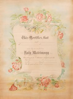 Marriage Certificate by floozieville on Etsy, $2.00