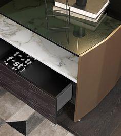 Rectangular bedside table with drawers MILVIAN Drawer Design, Bedside Cabinet, Wooden Tops, Sophisticated Style, Bedroom Decor, Master Bedroom, Drawers, Desk, House