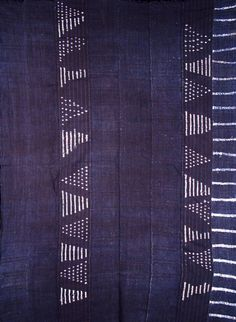 Antique bamana natural dyed indigo cloth from the Bamana people of Mali