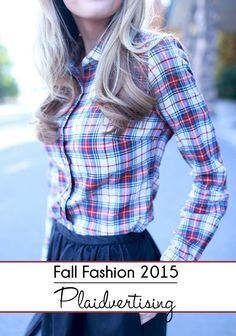 plaid fashion for the classic woman. #vintage #style