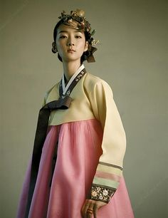 55 Inspiring Hanbok Designs and Trends | Koreabridge.net  Love the muted brights Smooth silk Stripes harken back to traditions for wedding...  사랑!! Love