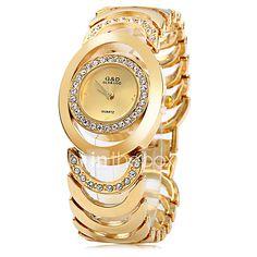 Mujer Reloj de Moda Reloj Pulsera Cuarzo Acero Inoxidable Banda Elegantes Plata  Dorado Dorado Plata Oro 176daaa10e71