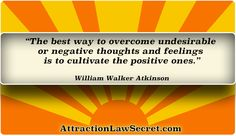 For free law of attraction lessons, inspiration and motivation, visit: www.attractionlawsecret.com Thoughts And Feelings, Negative Thoughts, Good Motivation, Law Of Attraction Quotes, Positivity, Free, Inspiration, Biblical Inspiration, Optimism