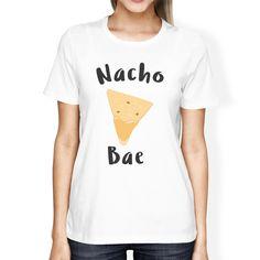 Nocho Bae Women's White T-shirt Cute Graphic Tee For Her Birthday