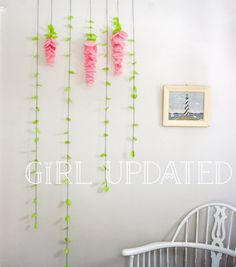 Wisteria tissue paper flower garland decor for wedding, nursery, display, party or bedroom!!