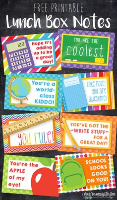 i should be mopping the floor: Free Printable Lunch Box Notes