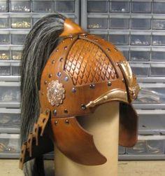 Leatherhelms [Helm with bronze parts.