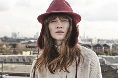 Gushlow and Cole X Awon Golding: the raspberry shearling Ear Flap Trilby hat is handmade in Britain from wool felt and finished with tonal Toscana. Trilby Hat, Wool Felt, Raspberry, Ear, Fashion, Moda, Wool Felting, Fashion Styles, Raspberries