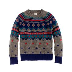 Boys' lambswool Fair Isle sweater in multicolor. I would buy everything crewcuts for my sons, if I could.