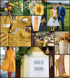 Spicy Mustard Wedding Inspiration #wedding #weddingideas #weddingcolours…
