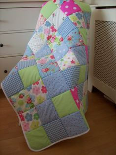 Hey, I found this really awesome Etsy listing at https://www.etsy.com/listing/207833890/patchwork-quilt-eiderdown-shabby-chic