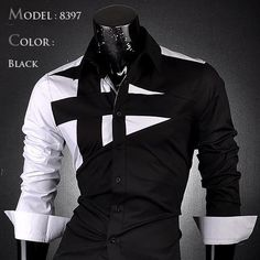 New Mens Cotton Slim Fit Dress Shirt - 7 Different Colors!