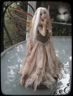 OOAK Ghost Fairy....HAVE TO PUT IN ART JOURNAL BOOK