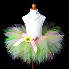 Girls Pastel Pink Green Pixie Cut Tutu Photo by TutuGorgeousGirl, $30.00