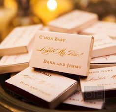 These personalized favors are clever, fun and useful ~ Inside Weddings