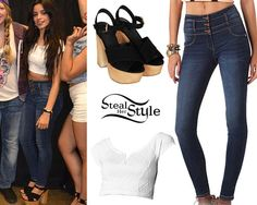 Fifth Harmony West Valley Meet & Greet, August 2014 - photo: Simple Outfits, Summer Outfits, Girl Outfits, Cute Outfits, Fashion Outfits, Star Fashion, Teen Fashion, Spring Fashion, Fifth Harmony Style