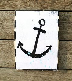 ANCHOR    A4 TILE    AHOY TRADER Commercial Interiors, One Pic, Decorative Accessories, Tiles, Clock, Ceramics, Ink, Crosses, Anchor
