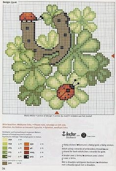 Cross Stitch World: Cross Stitch:_ LADY BUGS (5 schemes).